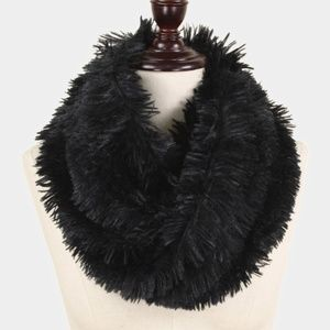 FAUX Fur Twisted Tube Scarf